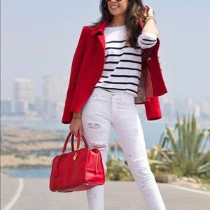 New wool blend lipstick red jacket by miilla